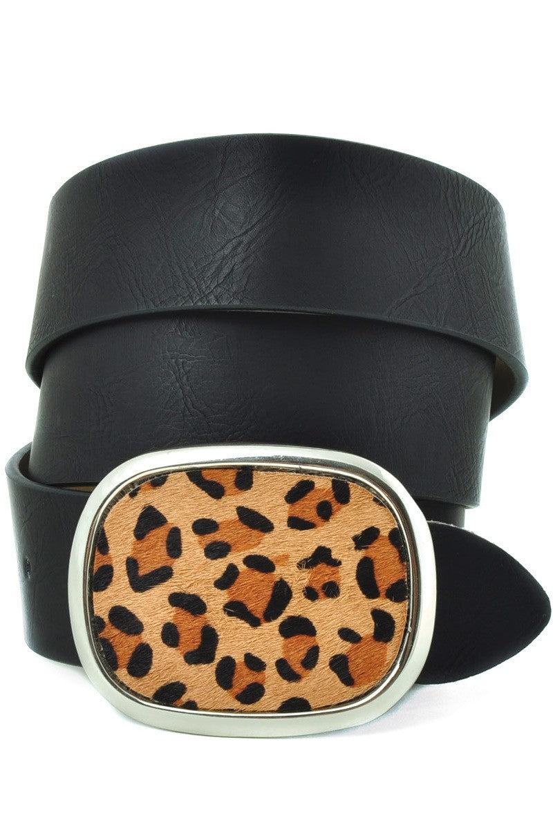 Buy Leopard Print Silver Belt Buckle Belt Black online at Southern Fashion Boutique Bliss