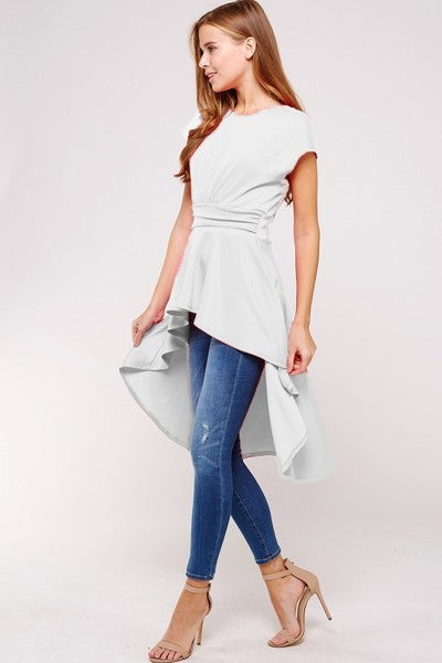 Buy Chic High Low Top White online at Southern Fashion Boutique Bliss