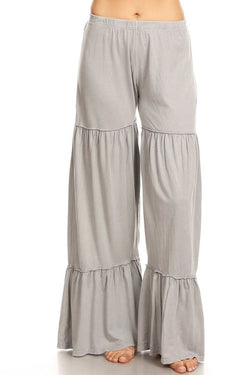 Buy Mineral Washed Layer Wide Leg Pant Gray online at Southern Fashion Boutique Bliss