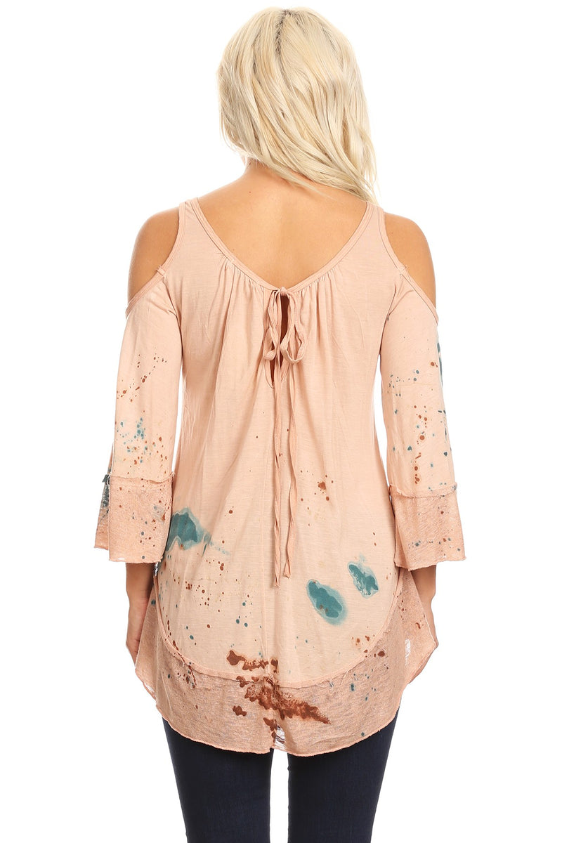 Buy Special Dye Cold Shoulder Top Multi-Color online at Southern Fashion Boutique Bliss