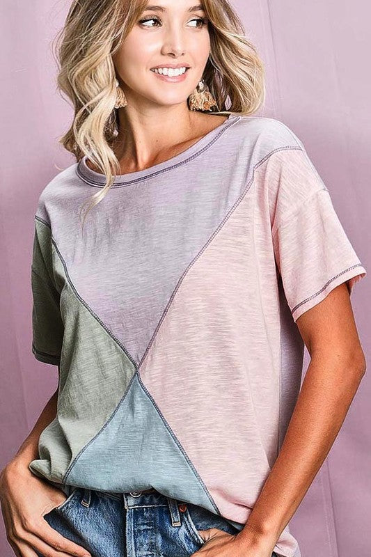 Buy Knit Color Block Top Multi-Color online at Southern Fashion Boutique Bliss