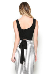 Buy Ribbed Singlet Crop Top Black online at Southern Fashion Boutique Bliss