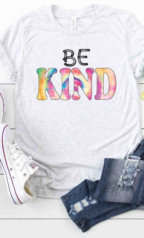 Rainbow Be Kind Graphic Tee Ash Grey