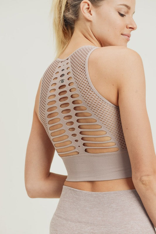 Buy Laser Cut Seamless Bralette Almond online at Southern Fashion Boutique Bliss