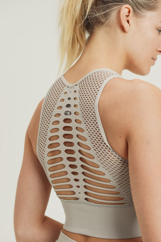 Buy Laser Cut Seamless Bralette Sand online at Southern Fashion Boutique Bliss