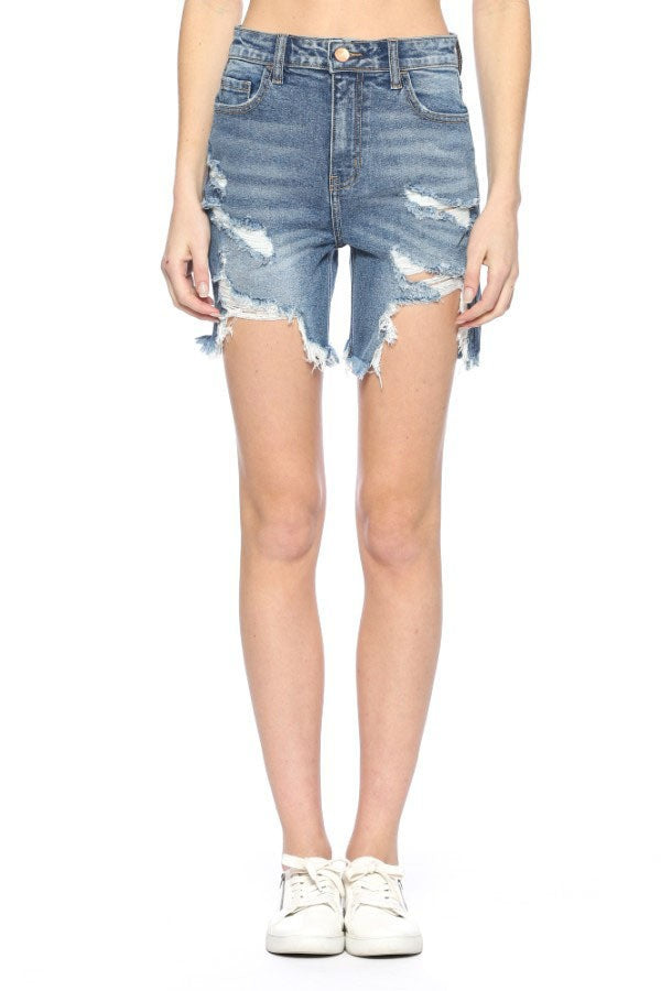Buy High Rise Distressed Burmuda Destroyed Shorts online at Southern Fashion Boutique Bliss