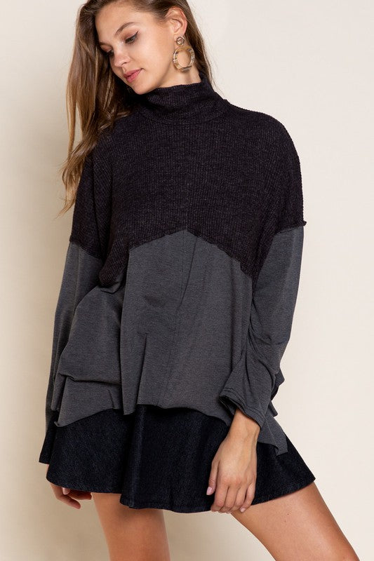 Buy Layered Turtleneck Top Black online at Southern Fashion Boutique Bliss