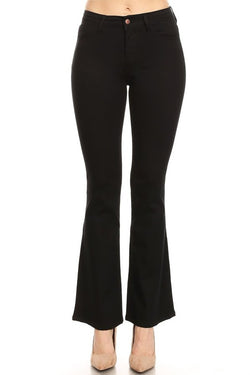 Buy High Rise Slim Fit Flare Jeans Black online at Southern Fashion Boutique Bliss