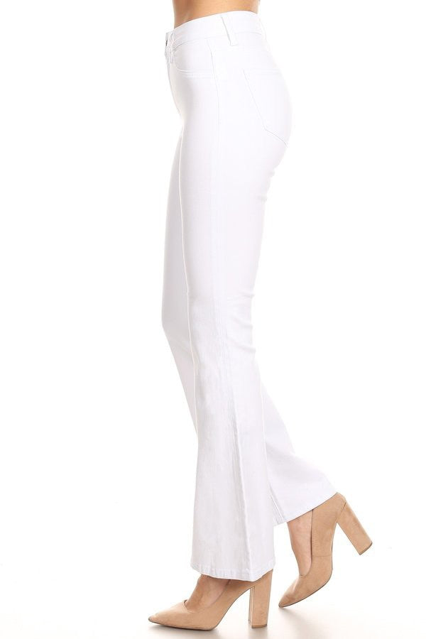 Buy High Rise Slim Fit Flare Jeans White online at Southern Fashion Boutique Bliss