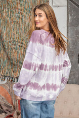 Buy Ombre Dye Terry Knit Top Lilac online at Southern Fashion Boutique Bliss
