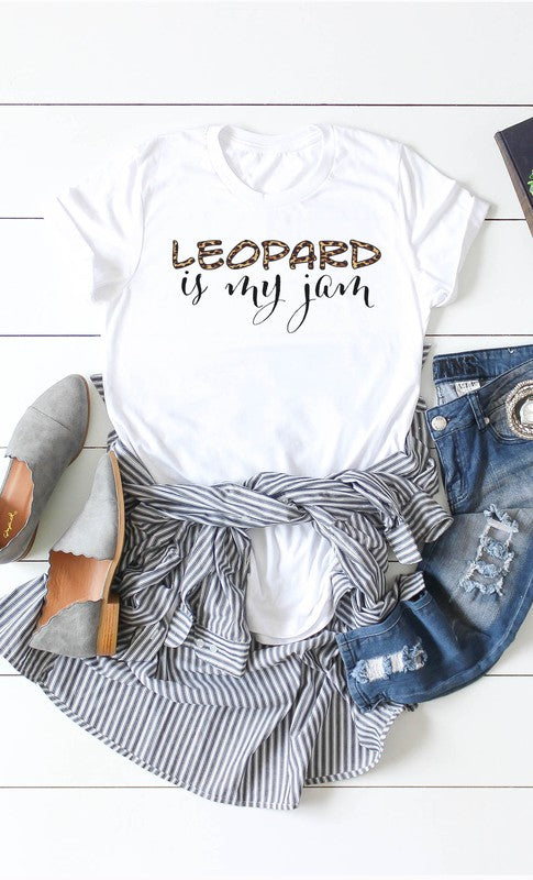 Buy Leopard is My Jam Graphic Tee White online at Southern Fashion Boutique Bliss