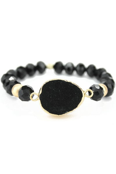 Buy Tear Drop Shape Natural Stone Bracelet Black online at Southern Fashion Boutique Bliss