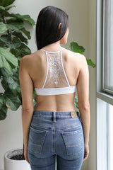 Buy Tattoo Mesh Racerback Bralette White online at Southern Fashion Boutique Bliss