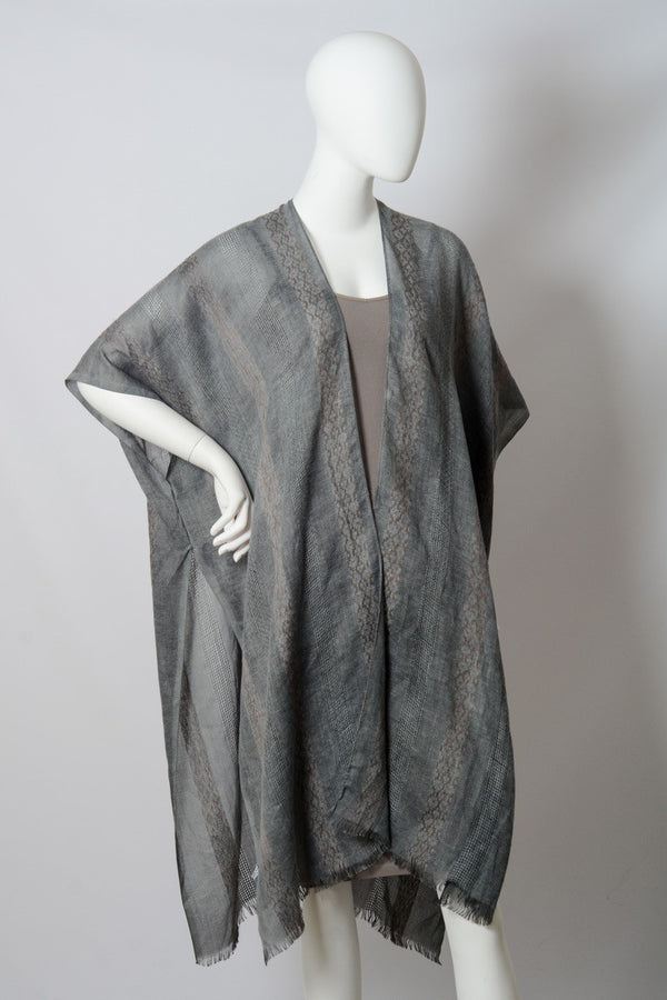Buy Woven Long Line Tribal Kimono Charcoal online at Southern Fashion Boutique Bliss