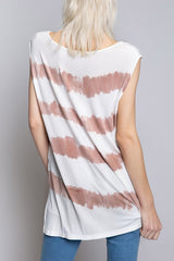 Buy Hand Dip Dye Knit Top Ivory/Red Wood online at Southern Fashion Boutique Bliss