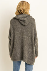 Buy Open Front Solid Sweater Cardigan Charcoal online at Southern Fashion Boutique Bliss