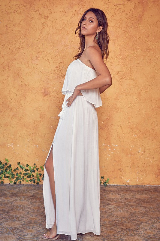 Buy Open Back Tube Top Dress Off White online at Southern Fashion Boutique Bliss
