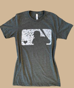 Buy Grunge Baseball Tee Grey online at Southern Fashion Boutique Bliss