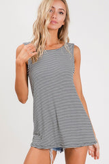 Buy Open Back Detail Stripe Tank Top online at Southern Fashion Boutique Bliss