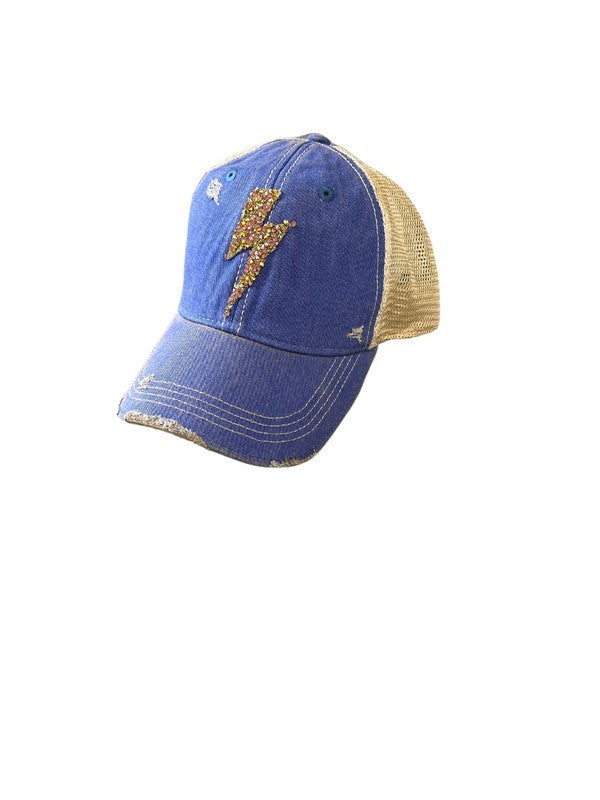 Buy Rhinestone Denim Striking Patch Cap online at Southern Fashion Boutique Bliss