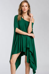Buy Short Sleeve Poncho Style Tunic Green online at Southern Fashion Boutique Bliss