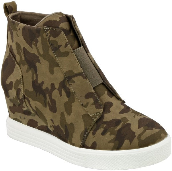 Buy Wedge Sneaker Camo online at Southern Fashion Boutique Bliss