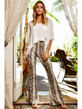 Buy Snake Skin High Waist Leggings Taupe online at Southern Fashion Boutique Bliss