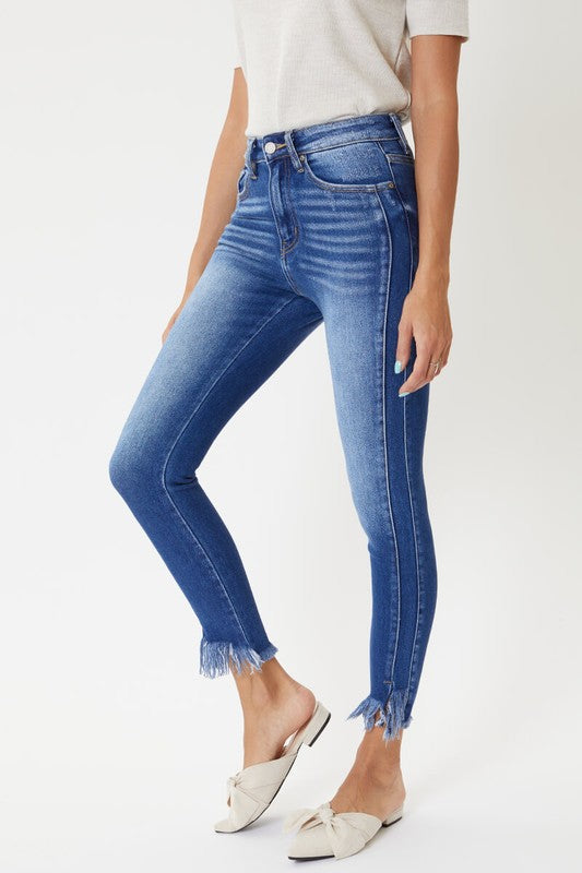 Buy High Rise Hem Detail Skinny Jeans Medium online at Southern Fashion Boutique Bliss