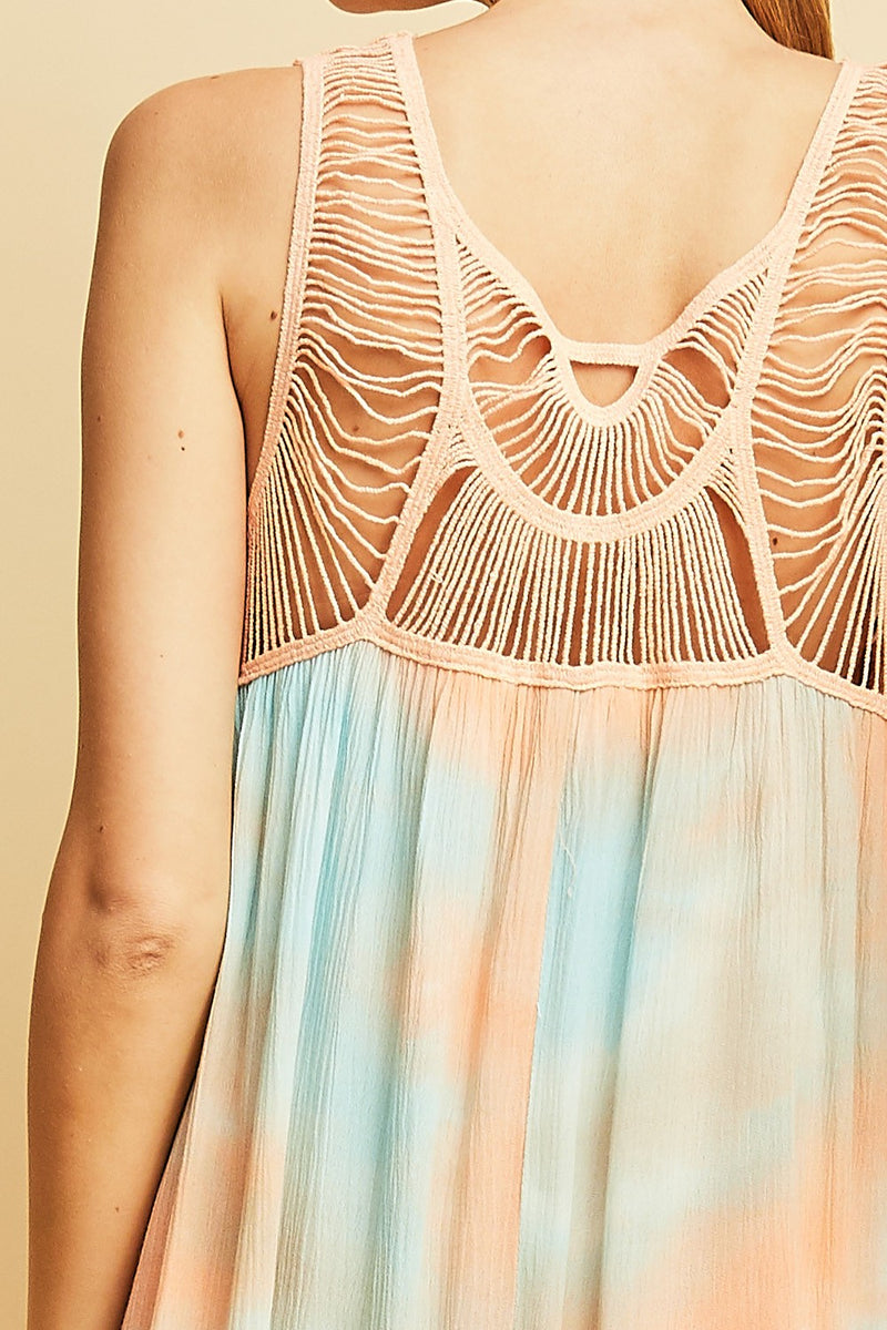 Buy Tie Dye Shift Dress Peach Combo online at Southern Fashion Boutique Bliss
