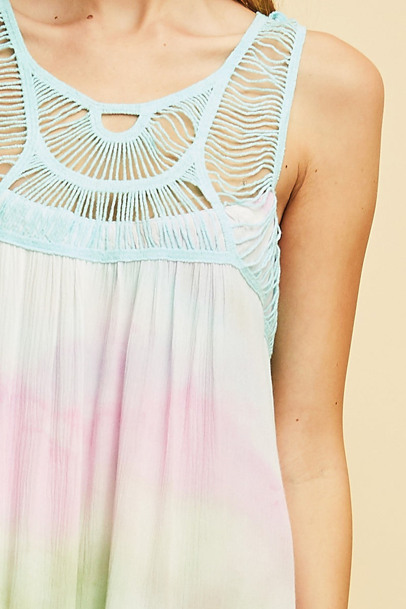 Buy Tie Dye Shift Dress Mint Combo online at Southern Fashion Boutique Bliss