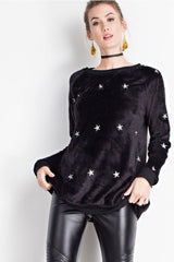 Buy Super Soft Star Pattern Pullover Top Black online at Southern Fashion Boutique Bliss
