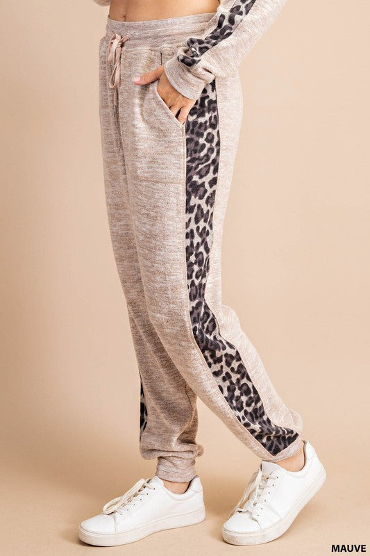 Buy Animal Print Lounge Sweatpants Mauve online at Southern Fashion Boutique Bliss