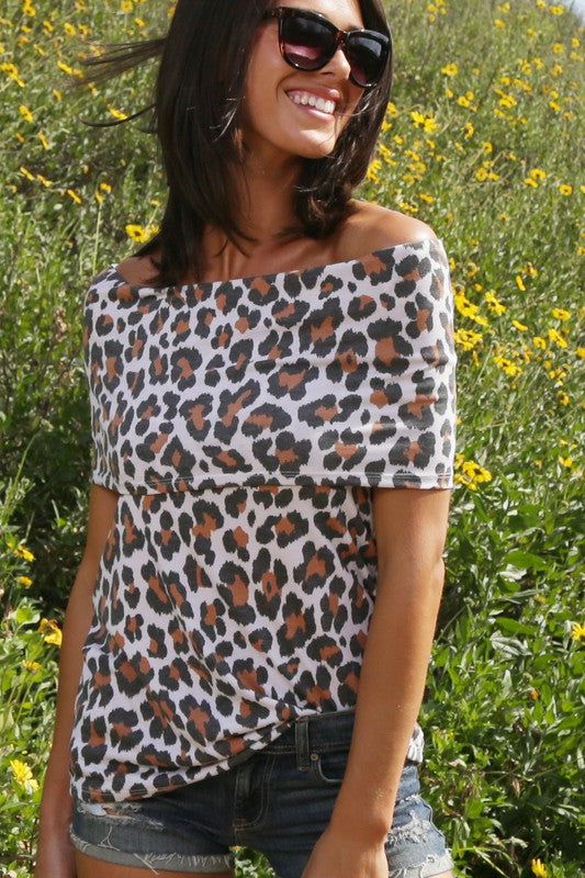 Buy Leopard Print Off Shoulder Top Leopard online at Southern Fashion Boutique Bliss