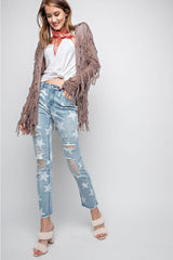 Buy Star Printed Distressed Washed Denim Jeans online at Southern Fashion Boutique Bliss