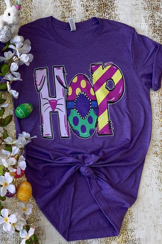 Buy Hop Graphic Easter Tee Purple online at Southern Fashion Boutique Bliss
