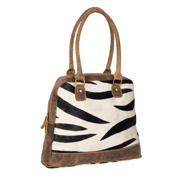 Buy Zebra Style Hairon & Leather Bag Purse online at Southern Fashion Boutique Bliss