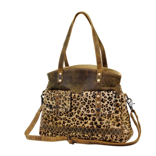 Wild in Woods Canvas & Hairon Bag Purse