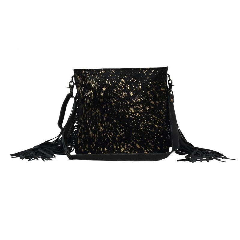 Buy Black Shimmer Leather & Hairon Bag Purse online at Southern Fashion Boutique Bliss