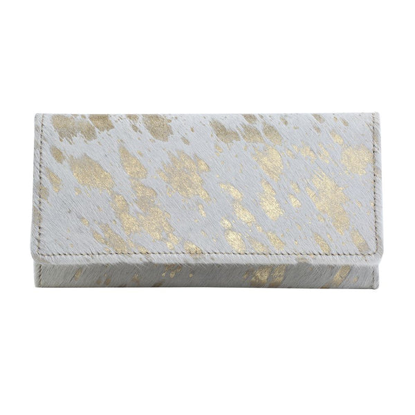 Golden Terrazzo Leather & Harion Wallet