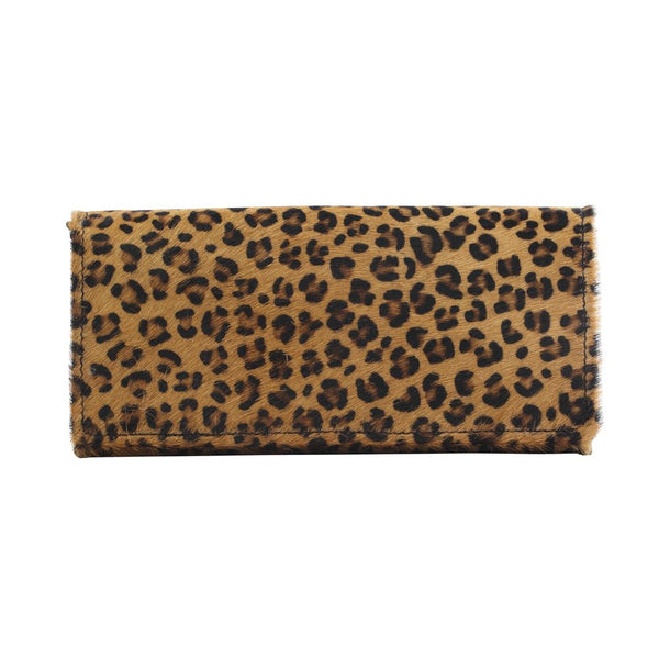 Boss Girl Leather & Leopard Harion Wallet