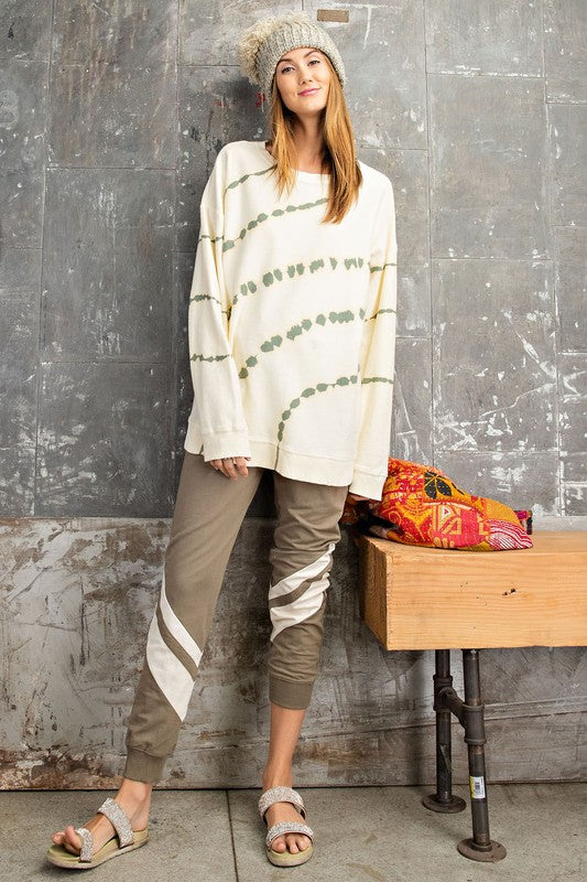 Buy Long Sleeve Tie Dye Pullover Natural online at Southern Fashion Boutique Bliss