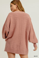 Buy Bubble Sleeve Pocket Sweater Mauve online at Southern Fashion Boutique Bliss