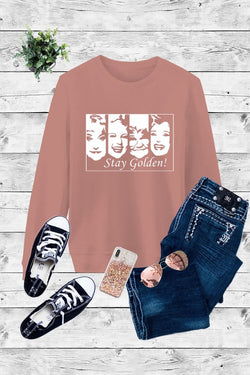 Buy Fleece Stay Golden Girls Sweatshirt Rose online at Southern Fashion Boutique Bliss