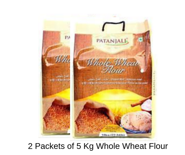 2 Packets of 5 Kg Atta - Whole Wheat Flour