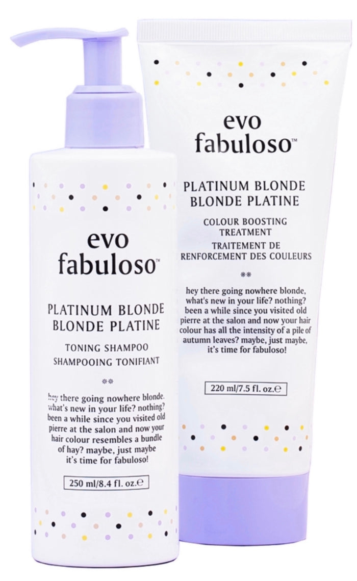 EVO PLATINUM BLONDE TONING SHAMPOO + TREATMENT