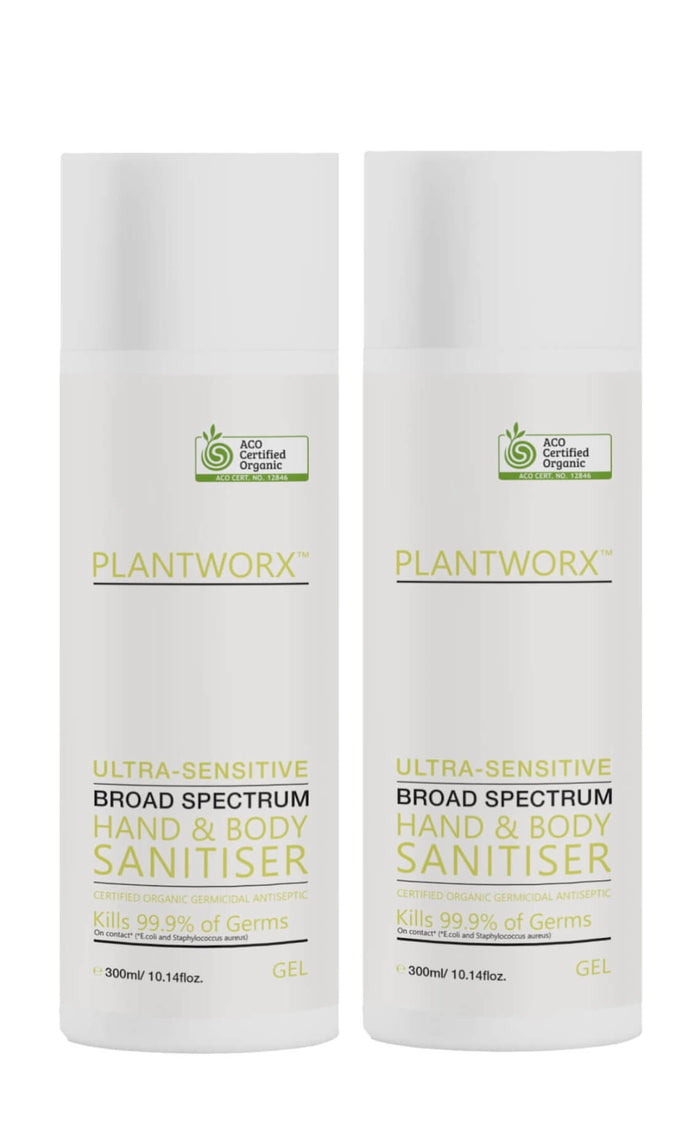 Plantworx Ultra-Sensitive Hand & Body Sanitiser 300ml