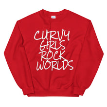 Load image into Gallery viewer, Curvy Girls Rock Worlds Sweatshirt