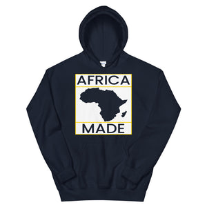 Africa Made (White & Gold) Hoodie