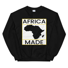 Load image into Gallery viewer, Africa Made (White & Gold) Sweatshirt