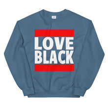 Load image into Gallery viewer, Love Black Old School Sweatshirt